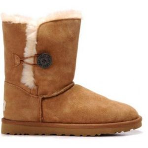 UGG Bailey Button Boots Chestnut 8
